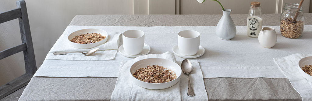 100 Pure Linen Table Runners Amp Placemats By Rough Linen