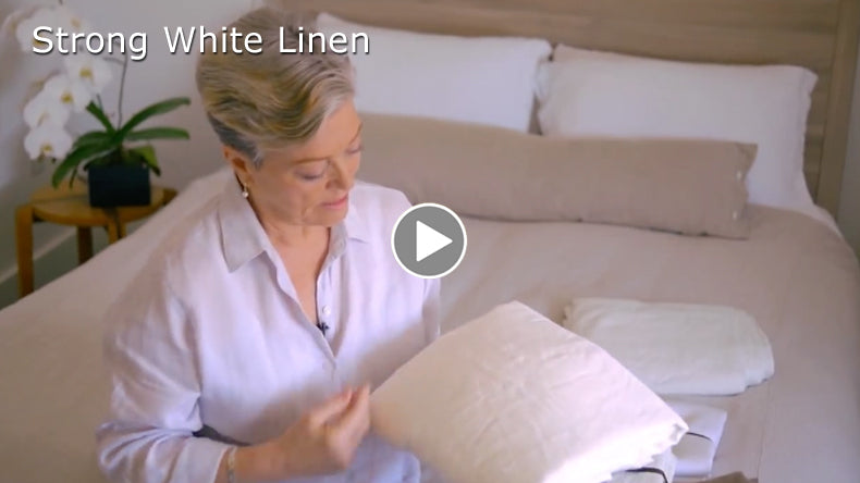 Tricia talks about Smooth white linen sheeting from Rough Linen