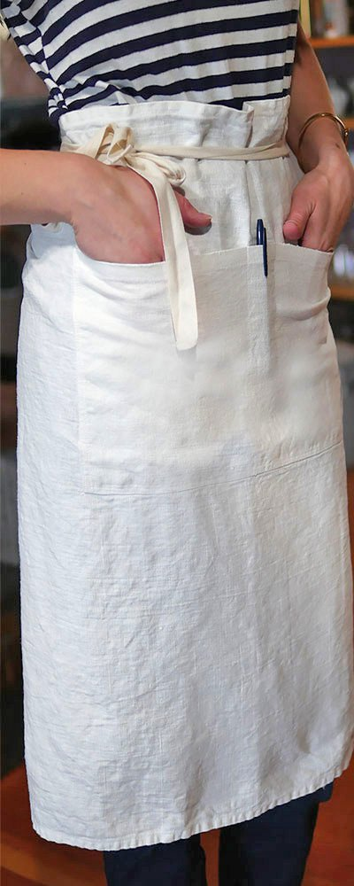Rough Linen Orkney white apron