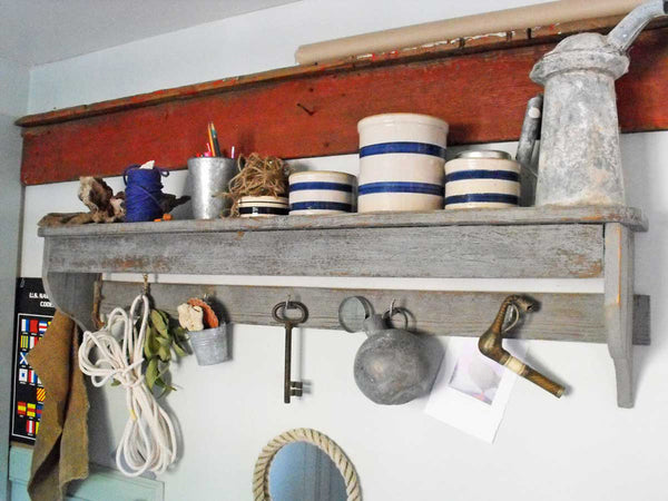 DIY shelf with odds and ends