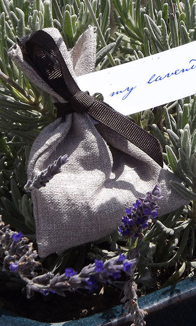Rough Linen Lavender Bag