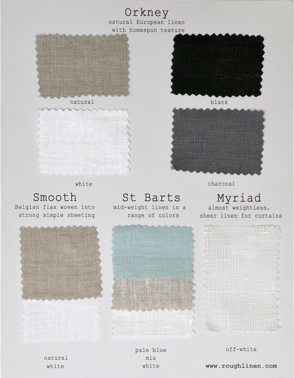 Rough Linen Fabric Sample Card