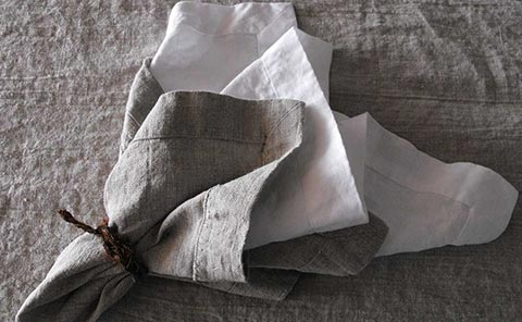 Orkney natural napkin with an inner Smooth white. Looks so elegant…