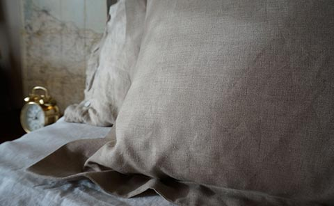 Rough Linen Oxford pillow slip (pillowcase) in Smooth natural