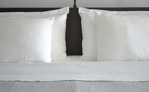 Rough Linen Smooth white pillow slips