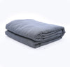 100% linen lightweight bedroom bed coverlet blanket throw charcoal color