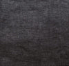 closeup detail of 100% linen body pillow cover heavyweight Orkney linen fabric black color