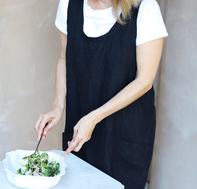 The Bella Linen Pinafore-Apron