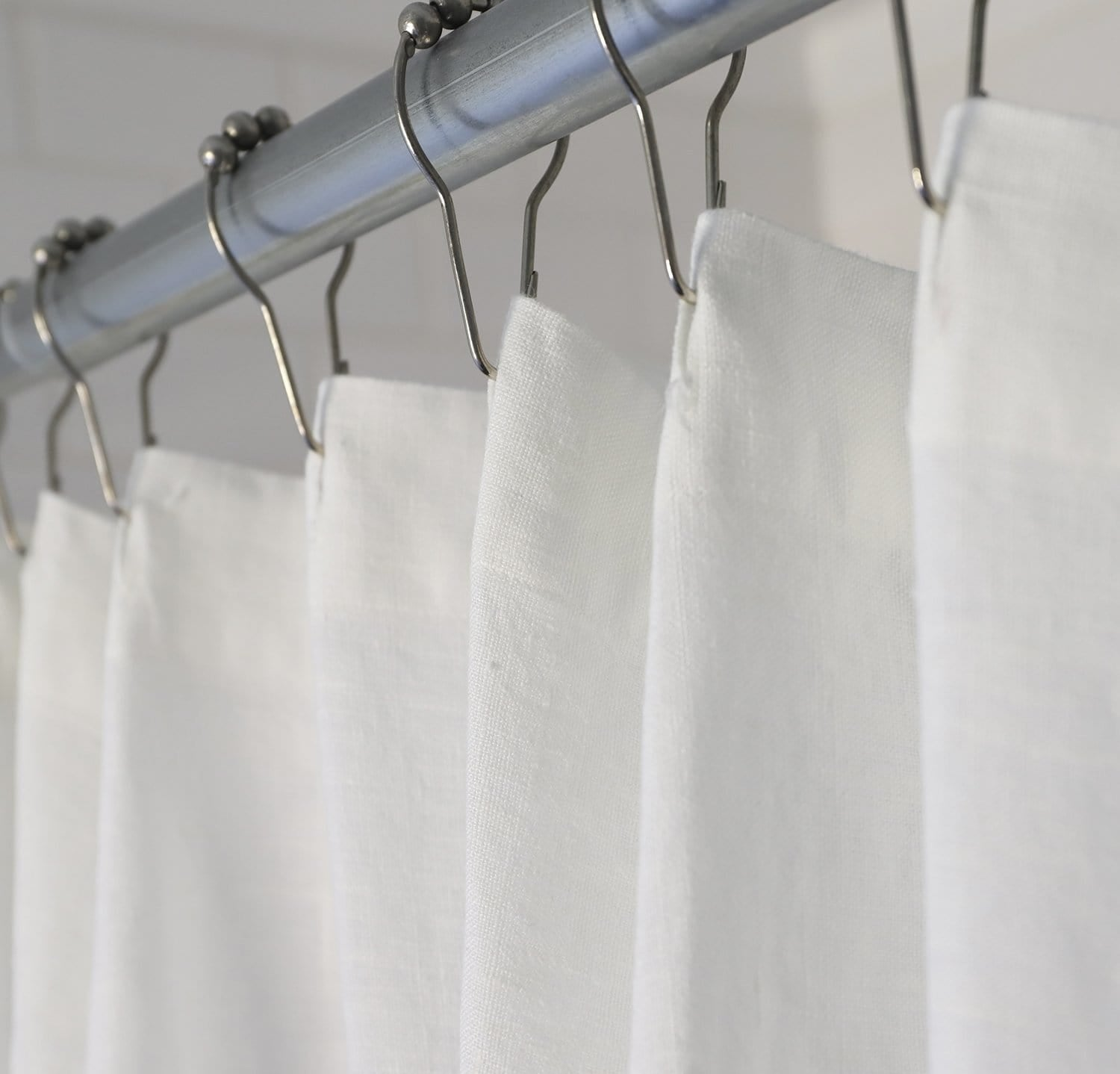 Best Linen Shower Curtain Rough Linen