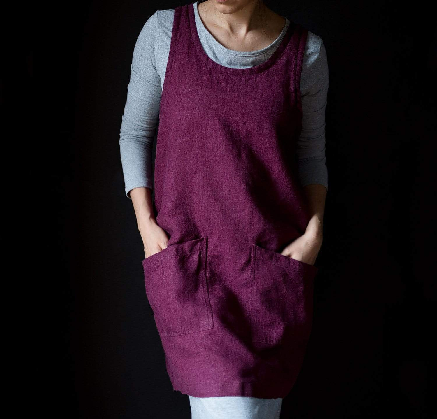 Limited Edition Bella Linen Pinafore-Apron