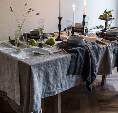 Orkney Linen Tablecloth in Natural by Rough Linen