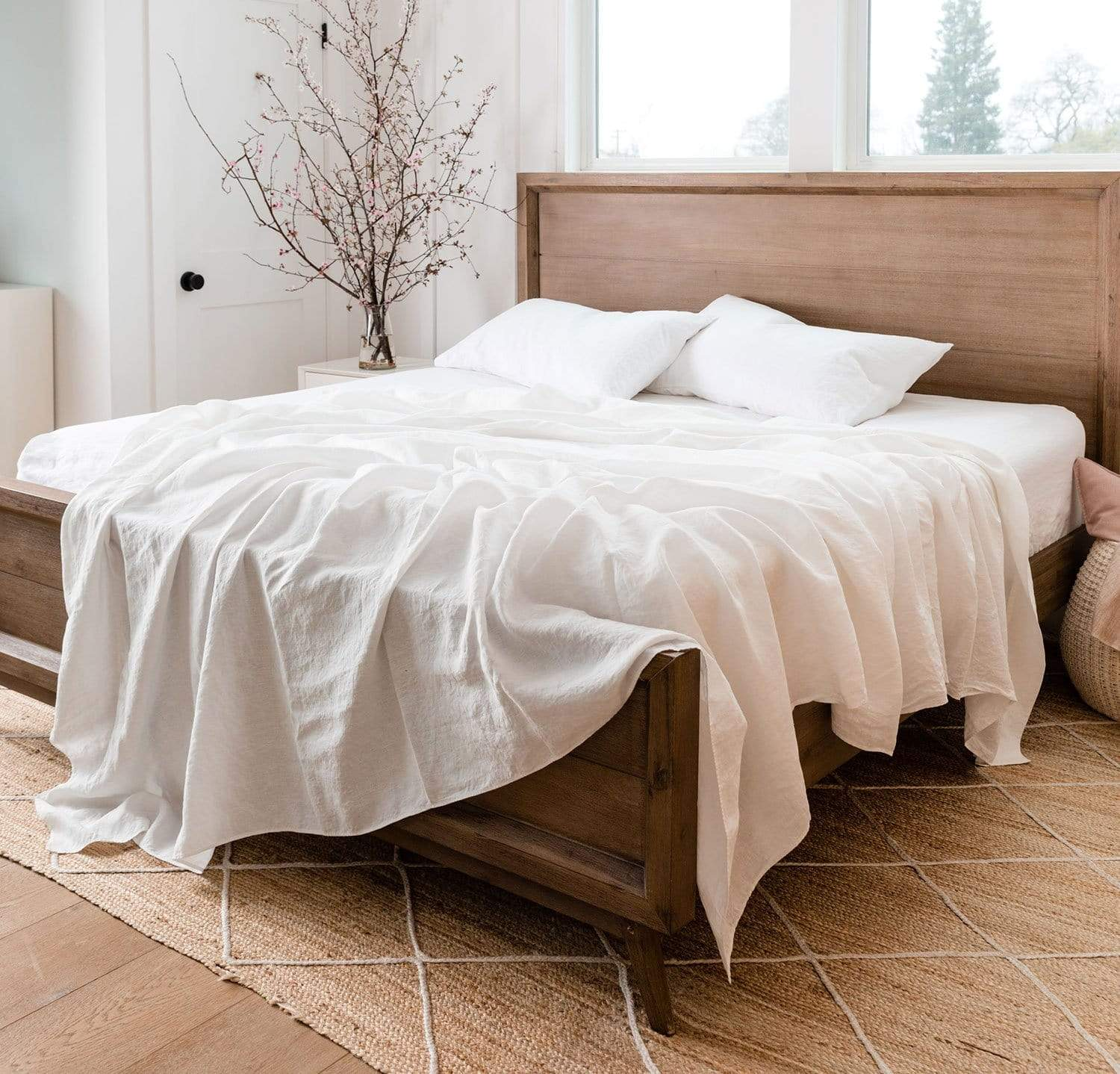 Twin//Full//Queen//King Size Bed Sheet Set Fitted Sheet Bottom Sheets Pillowcase