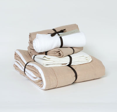 beige natural baby bedding set all-natural baby blanket and crib sheet