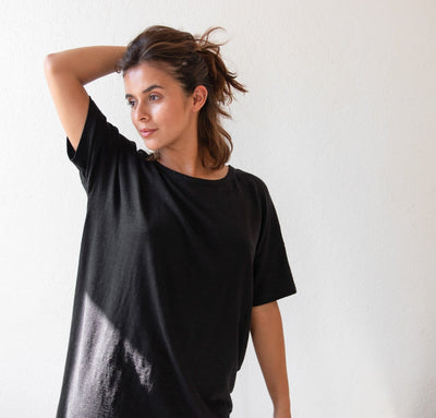 Essential Linen Knit Sleep Shirt