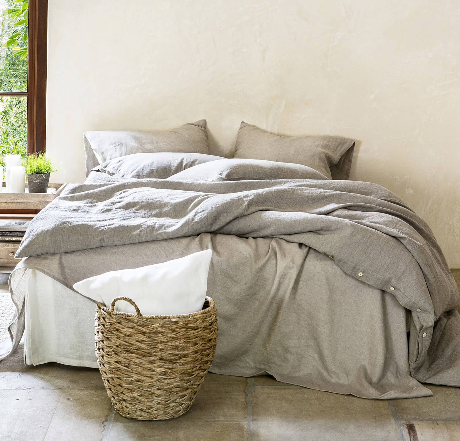 king linen bedding set makeover by rough linen