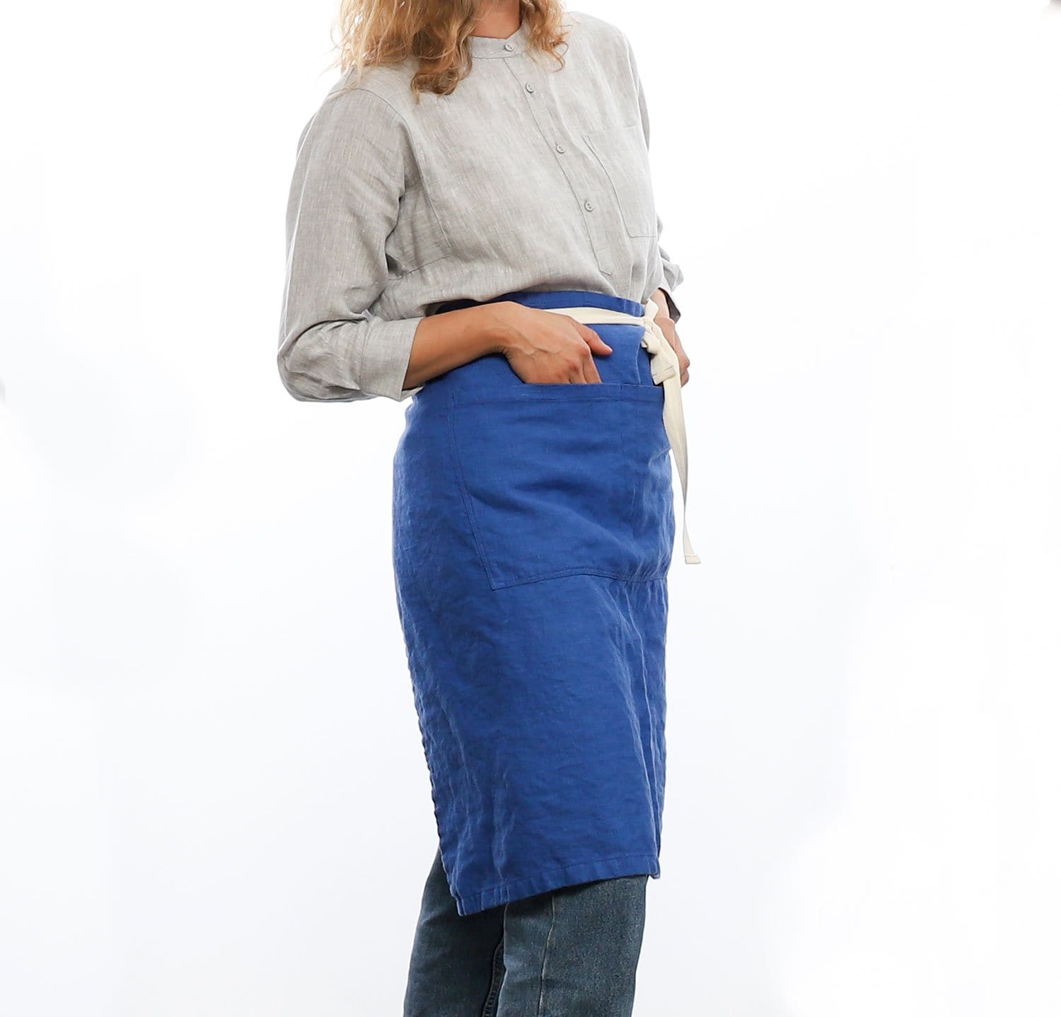 The Linen Half Apron | SALE