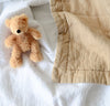 natural beige linen baby blanket two-toned all-natural quilt crib bedding