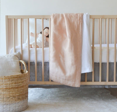 100% linen fitted crib sheet baby bedding pure linen all-natural