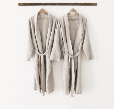 Pair of St. Barts Linen Robes