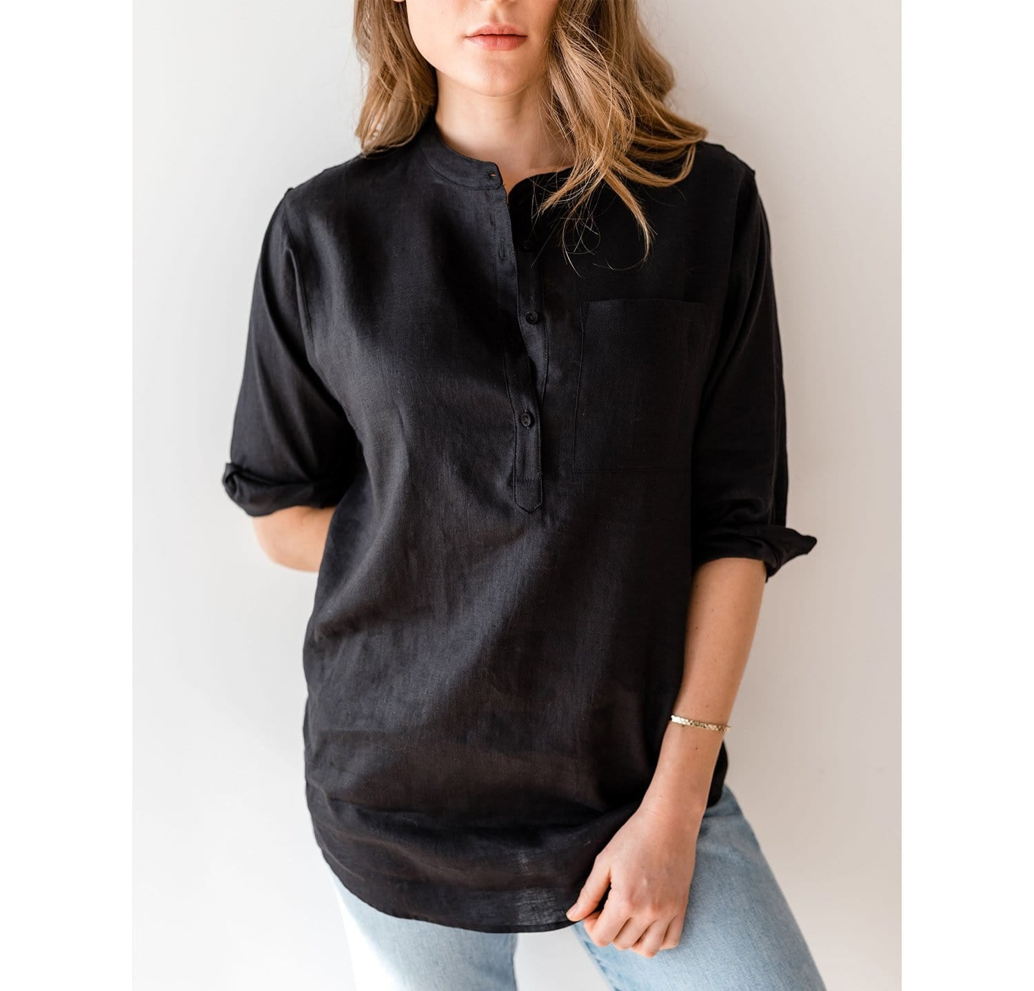 The Collarless Popover | Final Sale