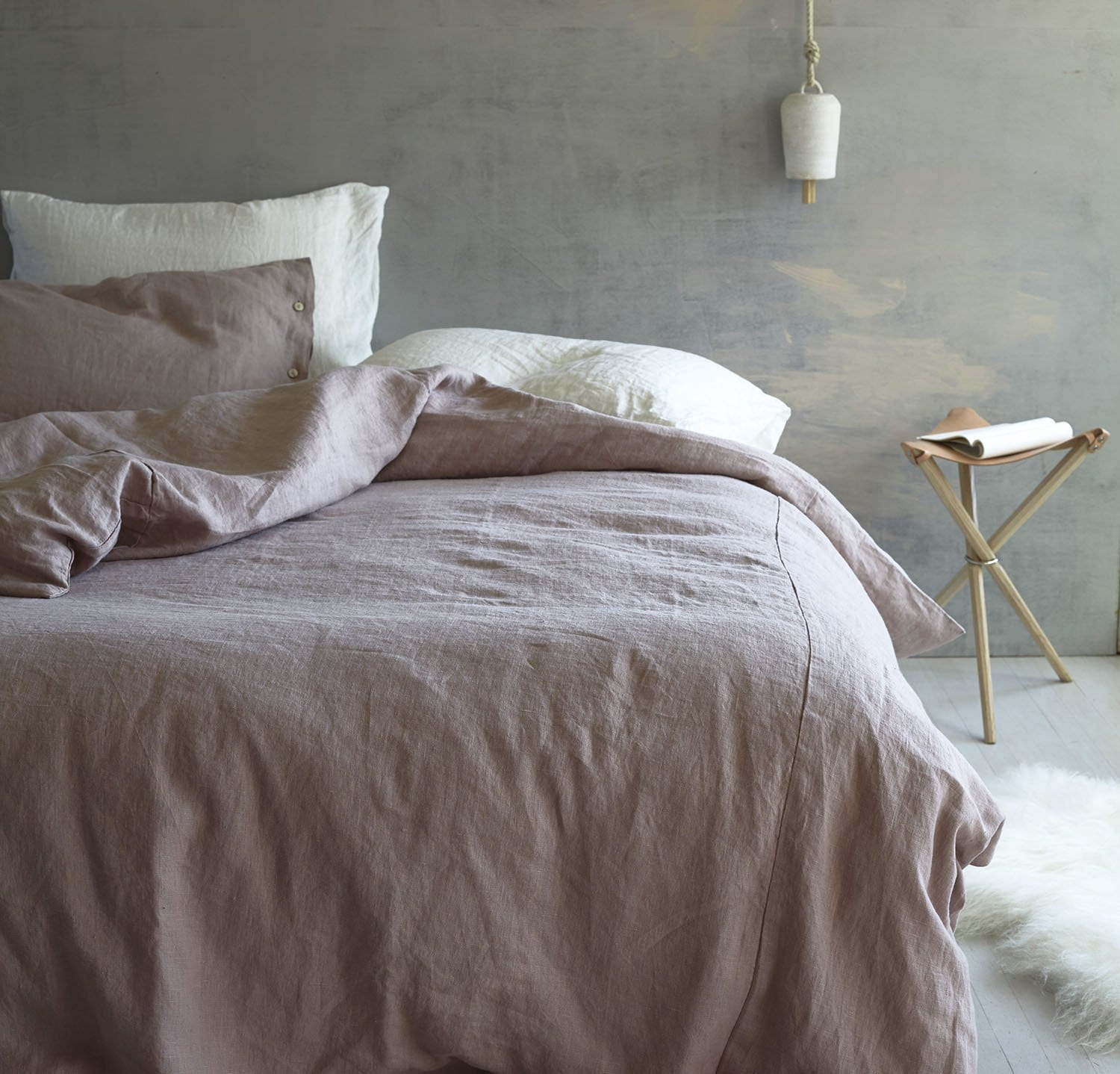 Cal King Bed Makeover Linen Bedding Set By Rough Linen