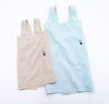 100% linen pinafore aprons light blue aqua natural beige tan light brown colors