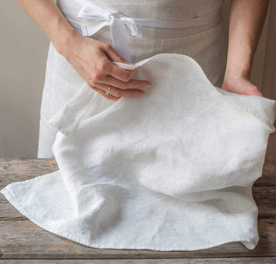 white linen kitchen tea towels, bakers white kitchen towel, quality heavyweight 100% flax linen