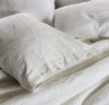 white linen pillow sham pillowcase cover, heavyweight textural off-white pillow covers