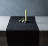black linen table runner, all-natural, quality table linens