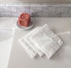 white linen wash cloth, fine spa quality exfoliating face cleansing towel, pure 100% linen