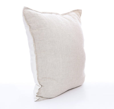 Two-Tone Linen Throw Pillow Cover