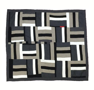 100% linen quilt bed blanket cover throw with smooth linen fabric cotton fill patterned design black charcoal dark grey white natural beige red colors