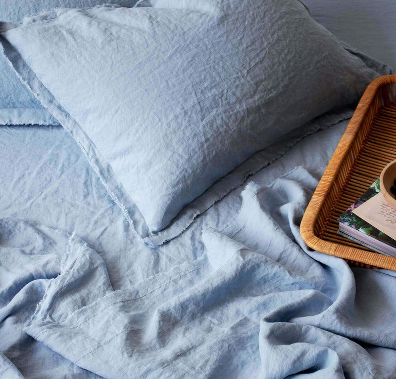 Raw Edge Smooth Linen Pillowcase