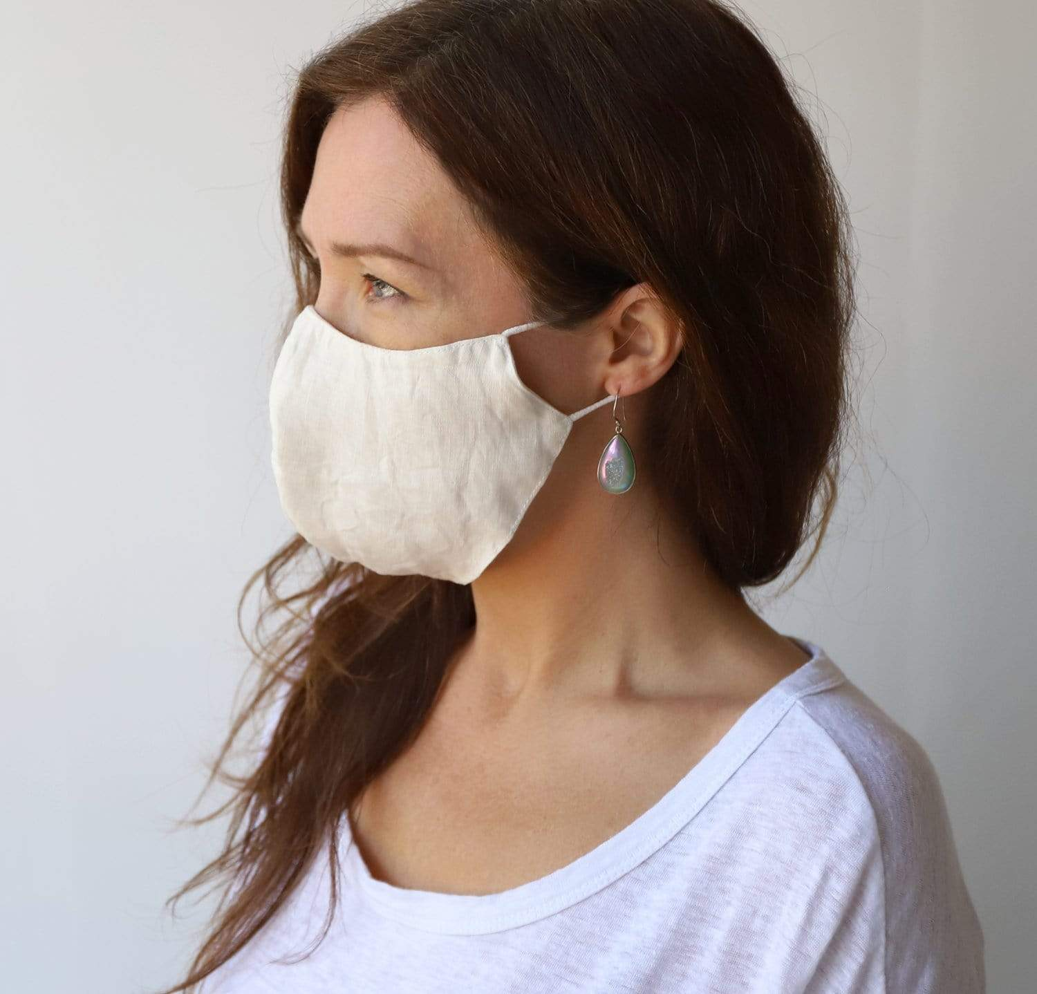 Reusable Linen Face Masks (Set of 4)