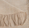 closeup detail of 100% alpaca scarf maple light brown beige tan gold color