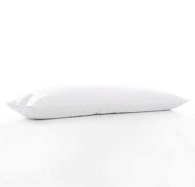 100% linen body pillow cover heavyweight Orkney linen fabric off-white white color