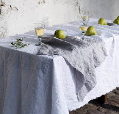 Raw Edge Smooth Linen Napkin Set
