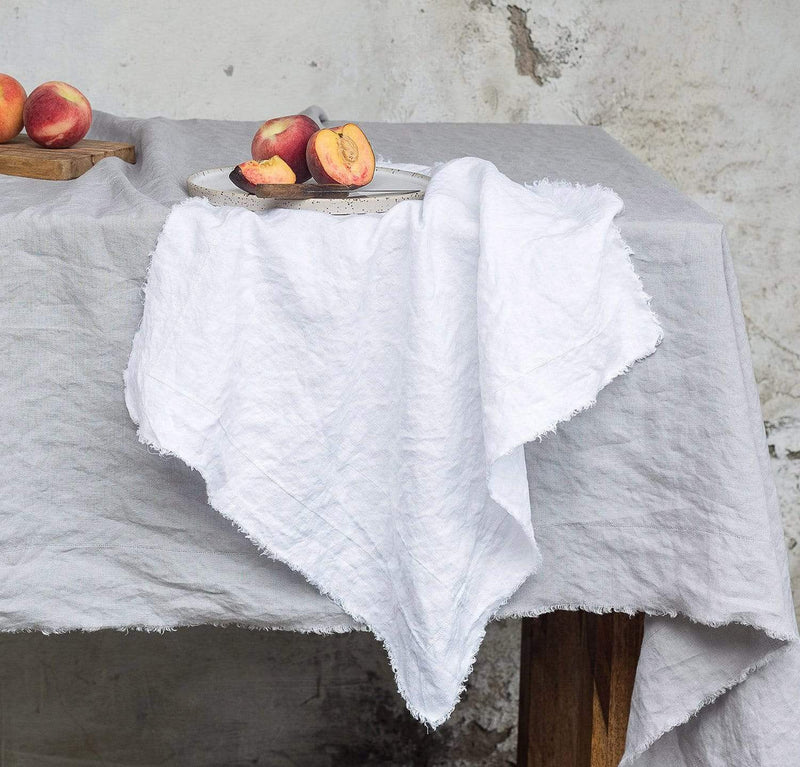 Raw Edge Smooth Linen Napkin