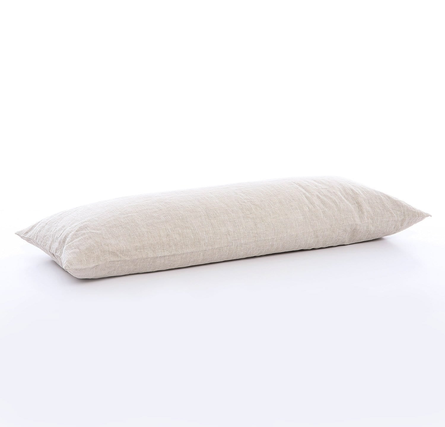 100% linen body pillow case mid-weight St. Barts linen fabric un-dyed natural taupe beige color