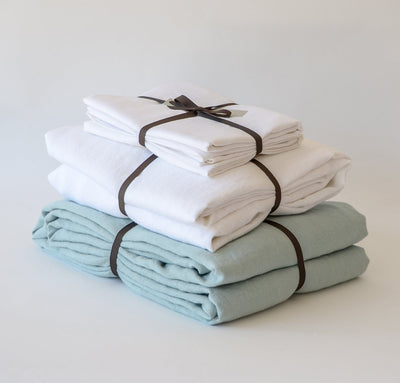 St. Barts Linen Summer Bedding Set