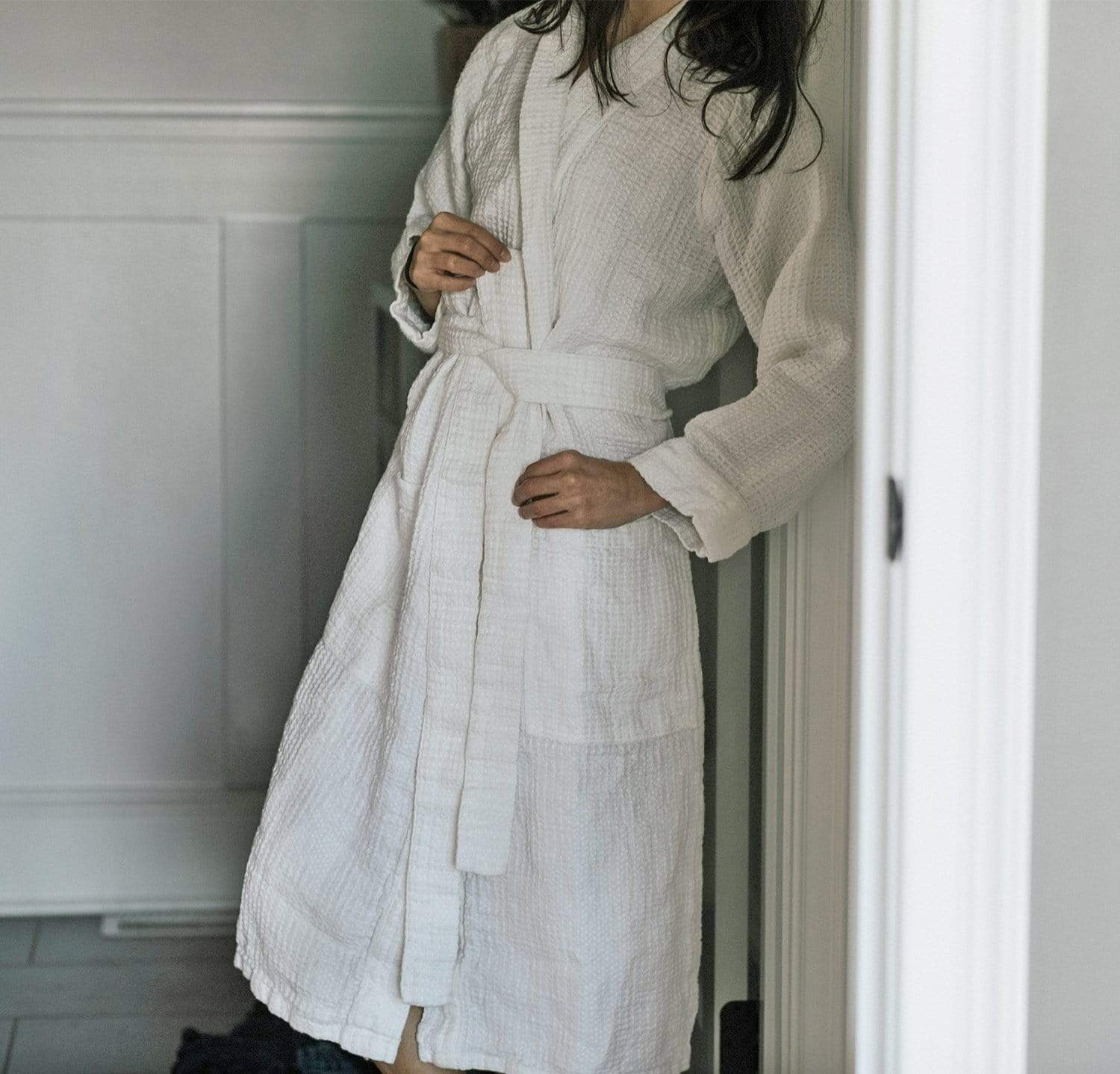 Beautiful 100 Linen Bath Robes Made In Usa By Rough Linen