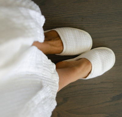 Waffle Linen Slippers