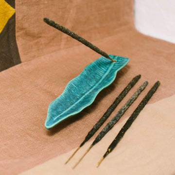 Feather Incense Holder and Copal Incense