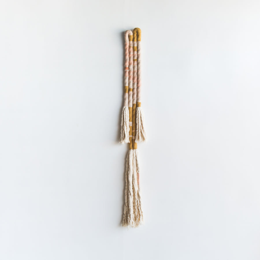 Camino Wall Hanging - Pink and Mustard