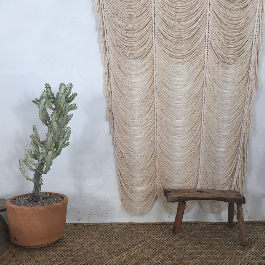 Large Hand Knotted Curtain