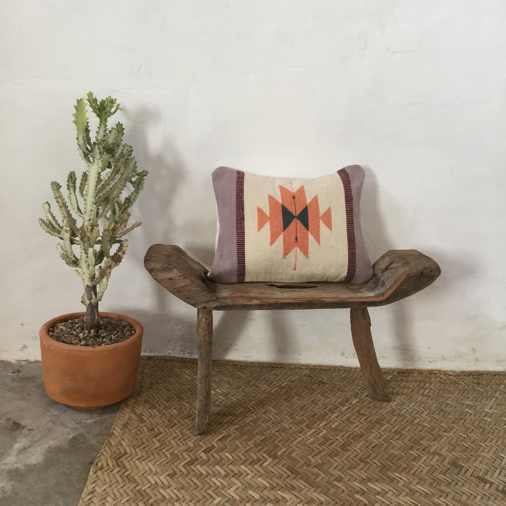 Handwoven Pillow - Rose Medalion