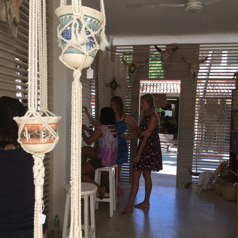 Hanging Macrame Planter Workshop