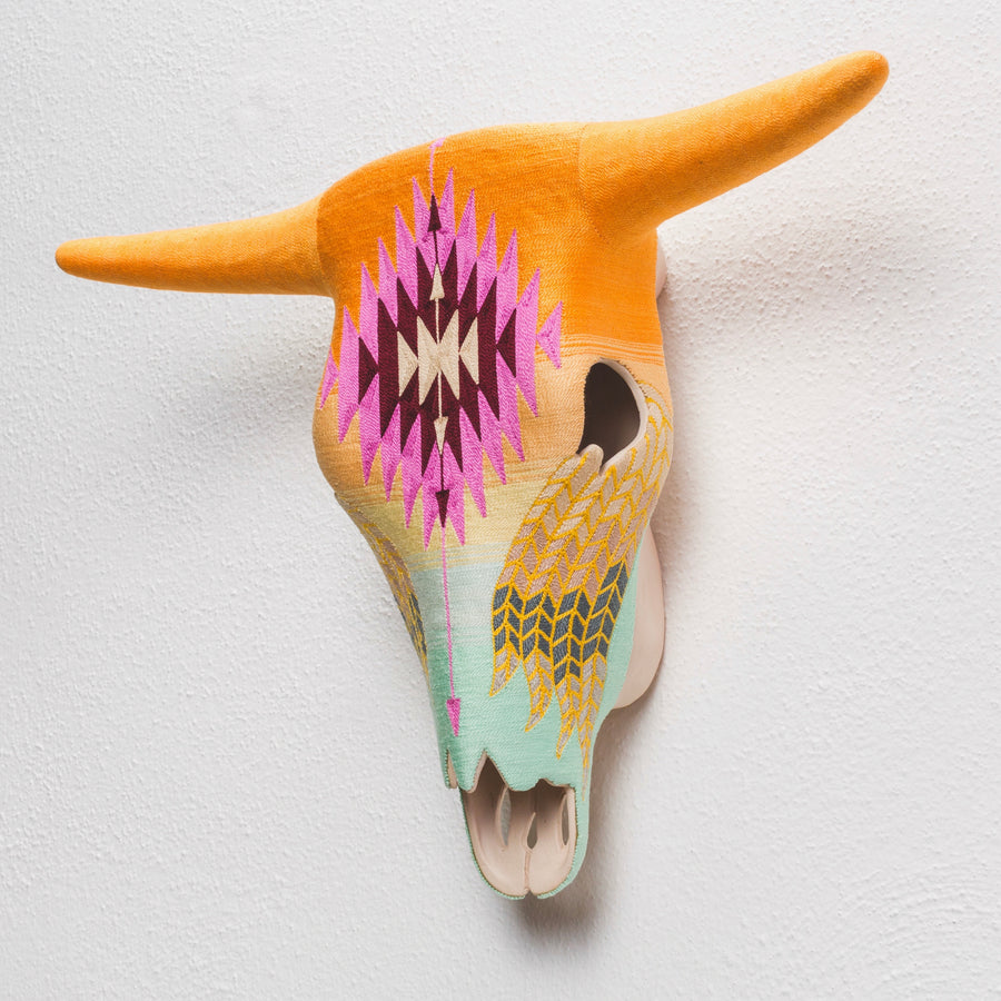 Ceramic Skull - Original Collection - Mexican Sunset
