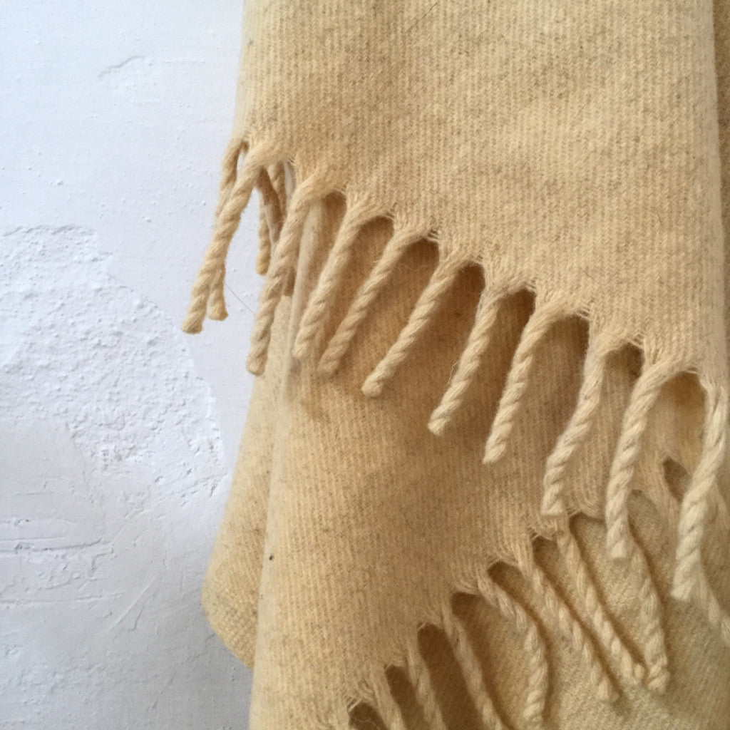 Hand-Dyed Blanket - Butter Cream