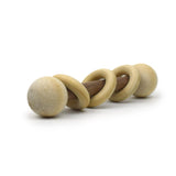 Little Sapling Toys - Walnut & Maple Baby Rattle With Rings